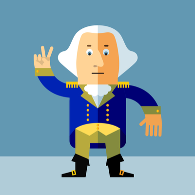 Cartoon of George Washington