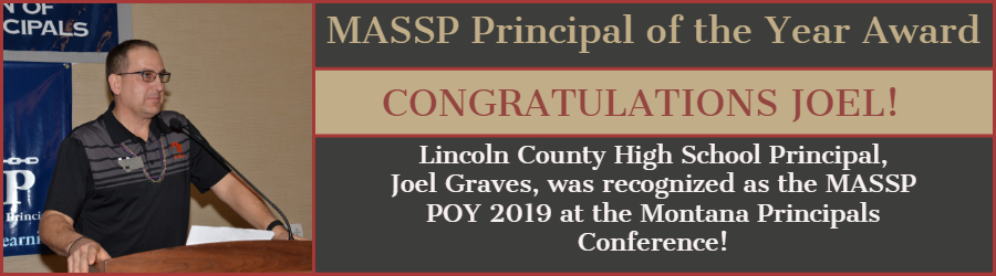 2019 MASSP Principal of the Year - Joel Graves - Lincoln County High School - Eureka - MTDA Board Chair