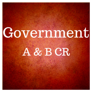 Government A & B CR